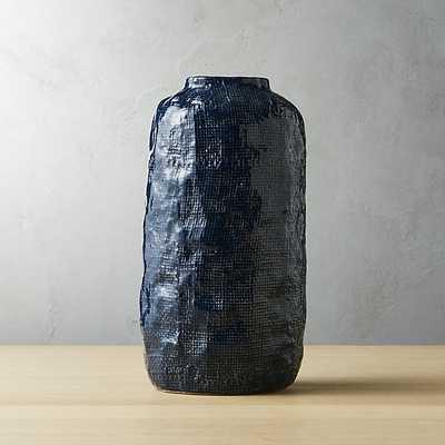 twill navy vase - CB2