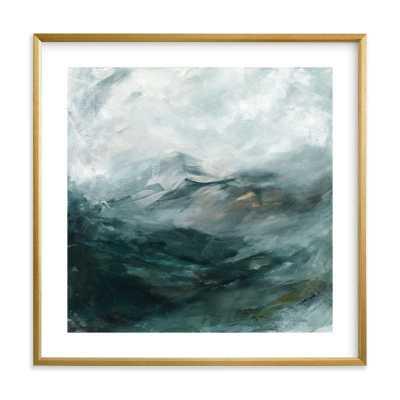 "ice canyon - 24"" x 24"" - Gilded Wood Frame - White Border - Minted"