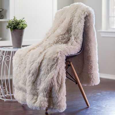 Cora Chick Fuzzy Faux Fur Throw - Wayfair