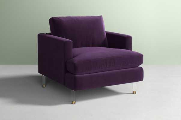 Bowen Chair, Lucite Leg - Eggplant - Anthropologie