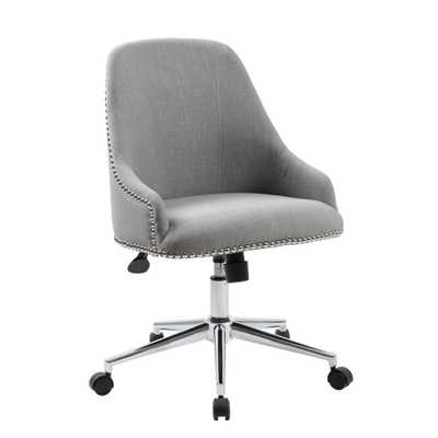 Grey Carnegie Desk Chair - Home Depot