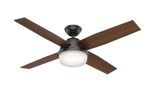 Hunter Dempsey 52 in. LED Indoor Noble Bronze Ceiling Fan with Light - Home Depot