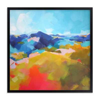 "blue ridge - black wood frame, 16x16"" - Minted"