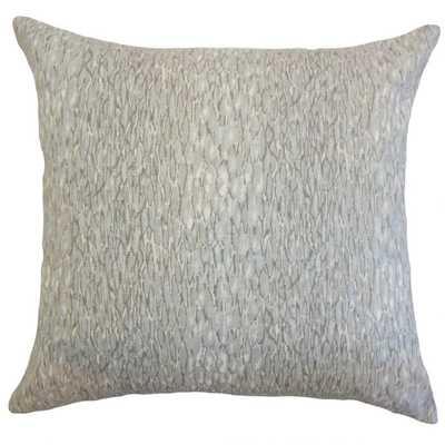 Galen Graphic Pillow Meta l - Poly Insert - Linen & Seam