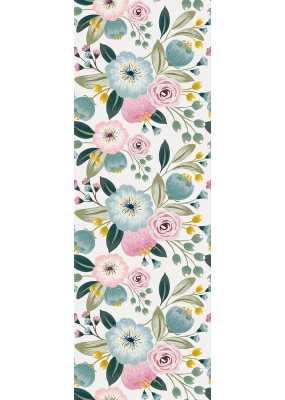 """Derwin Removable Pastel Flower Nursery 4.17' L x 25"""" W Peel and Stick Wallpaper Roll - Wayfair"""