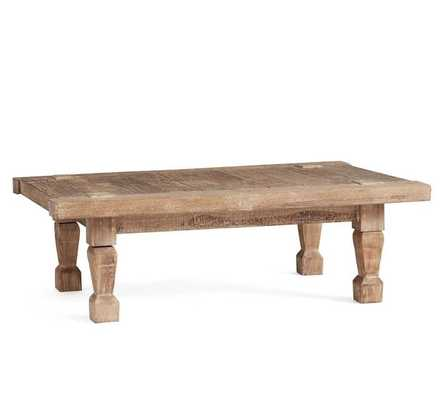 Takhat Reclaimed Wood Rectangular Coffee Table, Weathered Brown - Pottery Barn