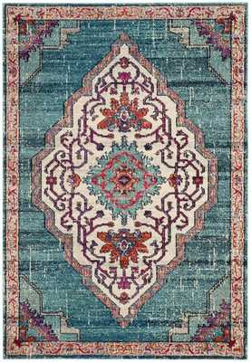 Arlo Home Woven Area Rug, MNC254J, Blue/Multi,  8' X 10' - Arlo Home