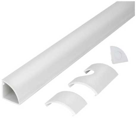 5 ft. 1/4 Round Baseboard Cord Channel, White - Home Depot