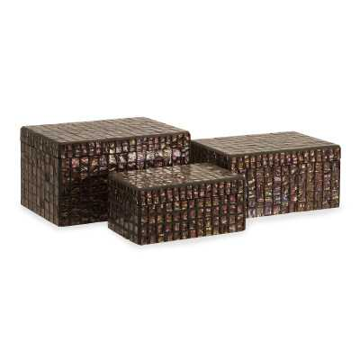 Broadfields 3 Piece Orchid Mosaic Accessory Box Set - Wayfair