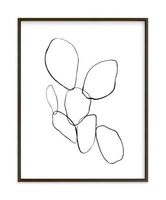 """Cactus Line Drawing  - 11"""" x 14"""" -Black and White - Minted"""