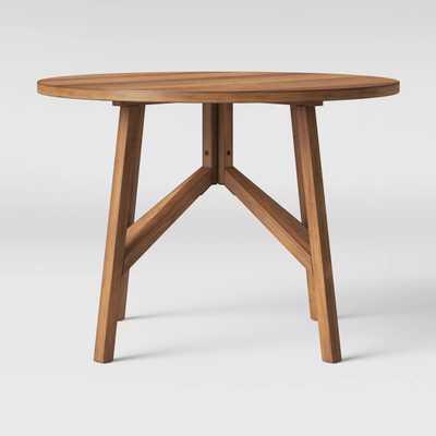 "42"" Clarksburg Cross Leg Wood Dining Table Round Brown - Threshold™ - Target"