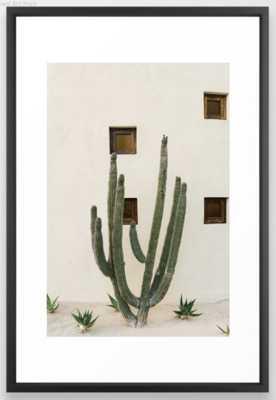 "Cabo Cactus IX - 26"" x 38"" - Vector Black Frame - Society6"