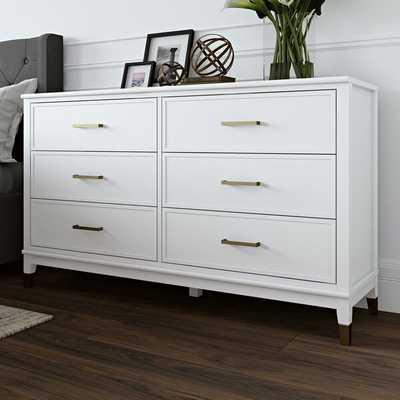 Westerleigh 6 Drawer Double Dresser - White - Wayfair