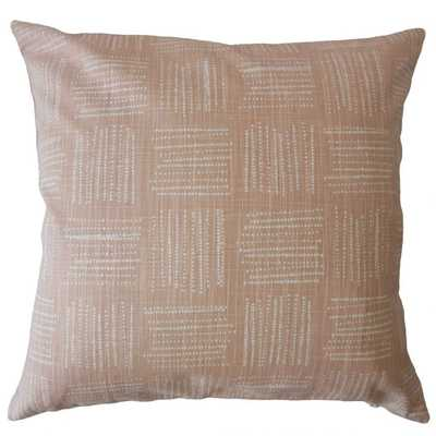 MACEO GEOMETRIC PILLOW BLUSH - lumbar with poly insert - Linen & Seam