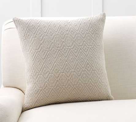 WASHED DIAMOND PILLOW COVER - Pottery Barn