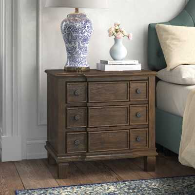 Burgan Weathered 3 Drawer Nightstand - Wayfair