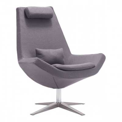 Bruges Occasional Chair Charcoal Gray - Zuri Studios