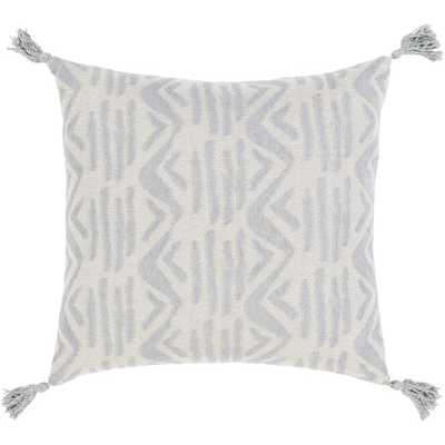 "Hadlee Dash Pillow, 18""x 18"", Gray - Cove Goods"