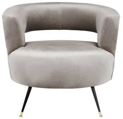 Manet Velvet Retro Mid Century Accent Chair - Hazelwood - Arlo Home - Arlo Home