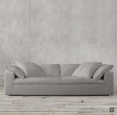 CLOUD TWO-SEAT-CUSHION SOFA in Fog - RH