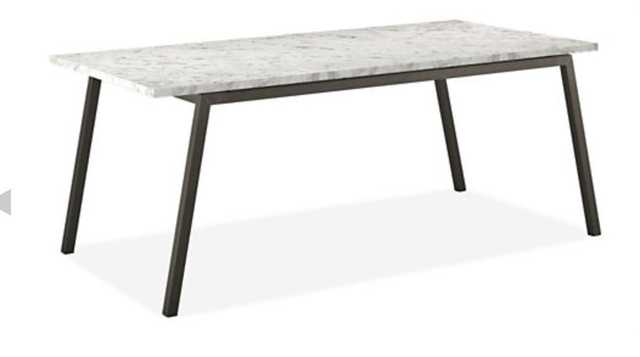 Cass Tables in Natural Steel - Venatino Marble - Room & Board