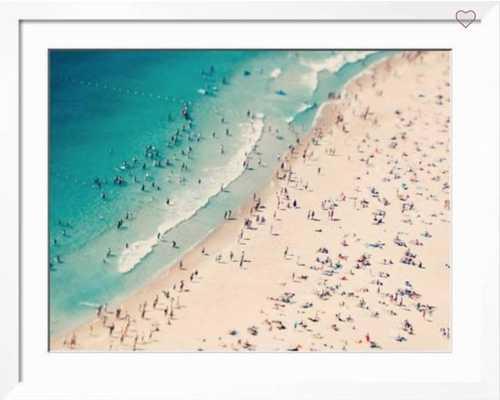 "Beach Love Ii - 32"" x 24"" - Neuhaus White 1.5"" Frame - art.com"