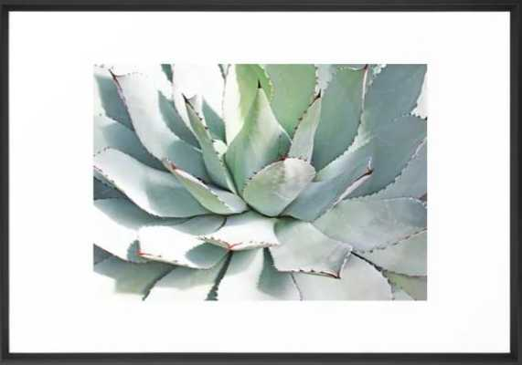 Agave plant Framed Art Print- 20x26- Vector Black Frame - Society6