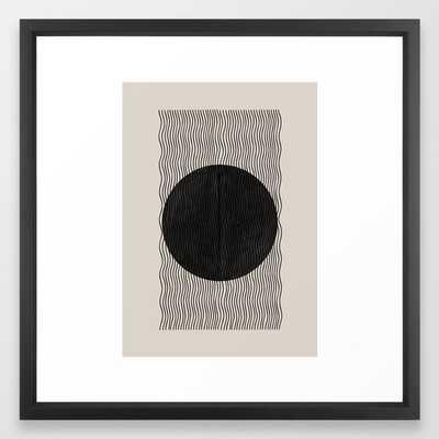 Woodblock Paper Art Framed Art Print - Society6