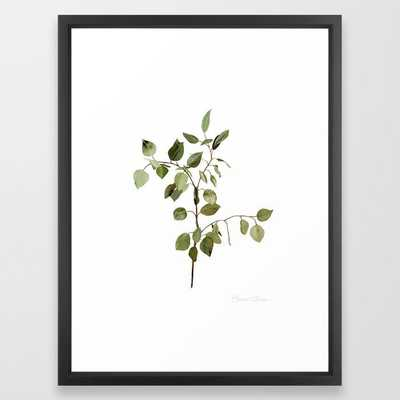 Eucalyptus Branch Framed Art Print, 20x26 - Society6