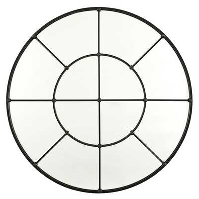 "Ballard Designs Grand Palais Round Mirror  36""- Antique Bronze - Ballard Designs"