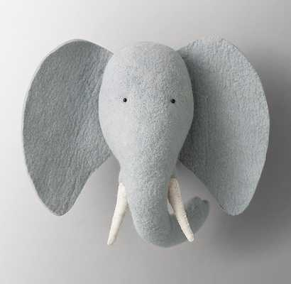 HANDMADE WOOL FELT ELEPHANT HEAD - RH Baby & Child