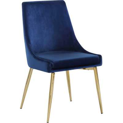 Navy Paluch Upholstered Dining Chair - Wayfair