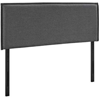 CAMILLE KING UPHOLSTERED FABRIC HEADBOARD IN GRAY - Modway Furniture