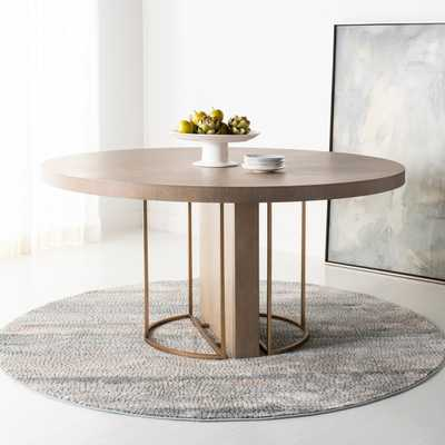 Mayla Round Dining Table - Grey Oak - Arlo Home - Arlo Home