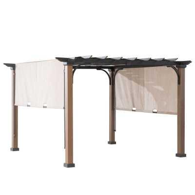 Raheem 10'x10' Metal Pergola with Canopy - Wayfair