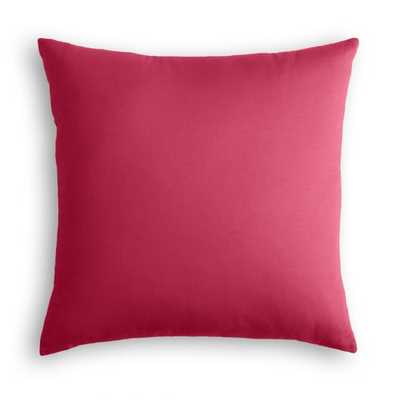 HOT PINK SUNBRELLA CANVAS OUTDOOR THROW PILLOW - Linen & Seam