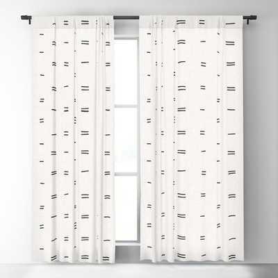 HAMMAH MUDCLOTH Blackout Curtain Set of 2 - Society6
