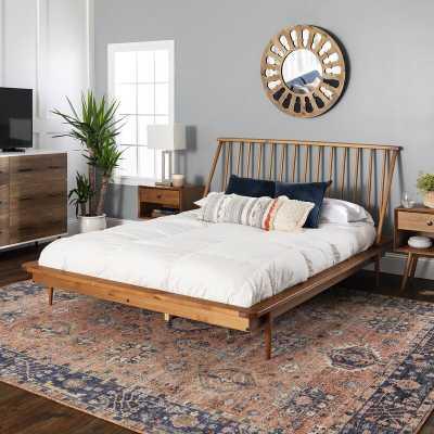 Dorinda Spindle Queen Platform Bed, carmel - Wayfair