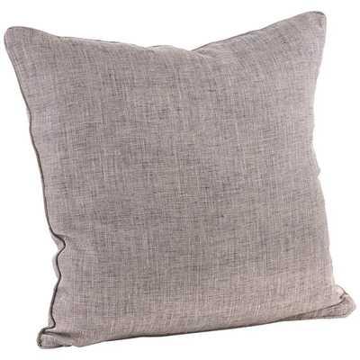 """Denier Natural Linen 20"""" Square Decorative Throw Pillow - Lamps Plus"""