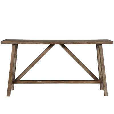 Brussels Natural Console Table - Home Depot