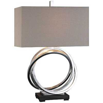 Soroca Silver Leaf Metallic Rings Table Lamp - Hudsonhill Foundry