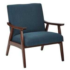 Davis Klein Azure Fabric Arm Chair - Home Depot