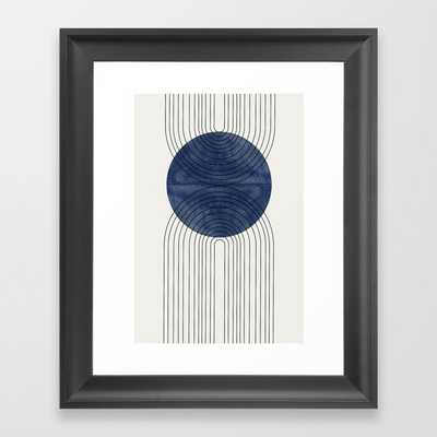Blue Perfect Balance Framed Art Print - Society6
