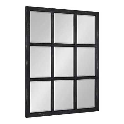 Leavens Windowpane Wood Wall Mirror - Wayfair