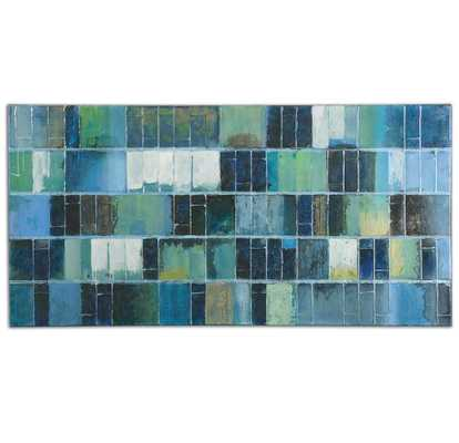 GLASS TILES HAND PAINTED CANVAS - Hudsonhill Foundry