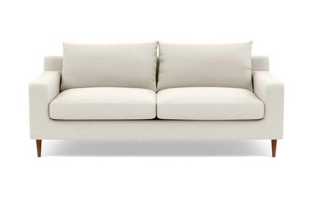 "SLOAN Fabric Sofa - 83"" - Chalk Heathered Weave-Double down blend - Interior Define"