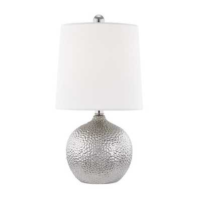 SPOTTED GLAM TABLE LAMP; Silver - Shades of Light