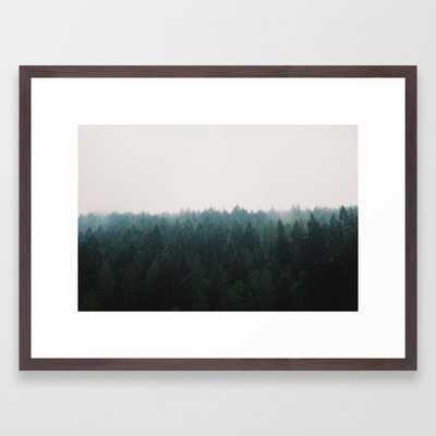 "Forest Framed Art Print - 20"" X 26"" - Conservation Walnut frame - Society6"
