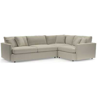 Lounge 3-Piece Sectional - Crate and Barrel