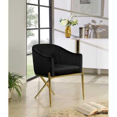 Cesar Velvet Upholstered Arm Chair - Wayfair